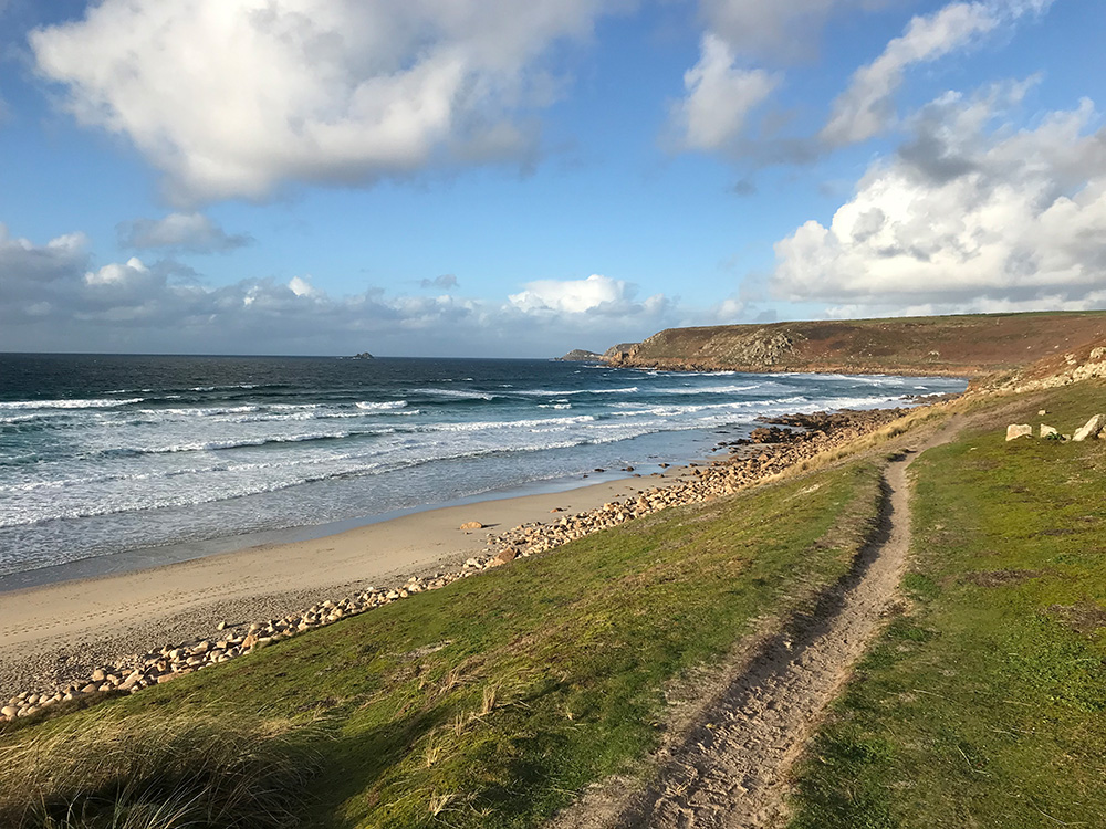 Coastal Path Sennen Beach